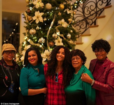 Family time: The singer posted lots of pictures of herself with her female relatives