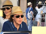 Please contact X17 before any use of these exclusive photos - x17@x17agency.com   PREMIUM EXCLUSIVE - Half of the remaining supergroup The Beatles, Paul McCartney vacations in St. Barth with his wife Nancy Shevell, on Wednesday, December 30, 2015 X17online.com