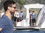 Please contact X17 before any use of these exclusive photos - x17@x17agency.com   PREMIUM EXCLUSIVE - Tobey Maguire made the trip out to St. Barth to hang out with his good friend Leonardo DiCaprio on his $500k a week yacht, on Wednesday, December 30, 2015 X17online.com