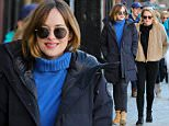 UK CLIENTS MUST CREDIT: AKM-GSI ONLYEXCLUSIVE: Aspen, CO - Dakota Johnson roams around Aspen with a gal pal as the two set out for some retail therapy together in the cold ahead of the new year. Dakota was bundled up in a long winter coat with her work-boots and black denim skinnies with a blue turtle neck sweater and smile.AKM-GSI  December 30, 2015USA, Australia ONLYMADATORY CREDIT MUST READ: FameFlynet/Pictured: Dakota JohnsonRef: SPL1201939  301215   EXCLUSIVEPicture by: AKM-GSI / Splash News
