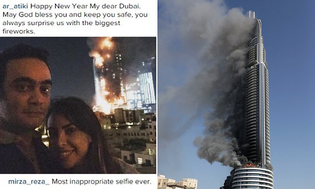 Couple Upload Dubai Hotel Fire Selfie To Instagram On New