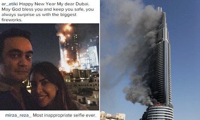 Couple Upload Dubai Hotel Fire Selfie To Instagram On New