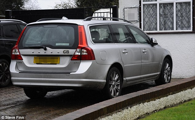 Mr Farage's Volvo, which was involved in the incident, and Mr Farage fears he was the victim of a malicious act