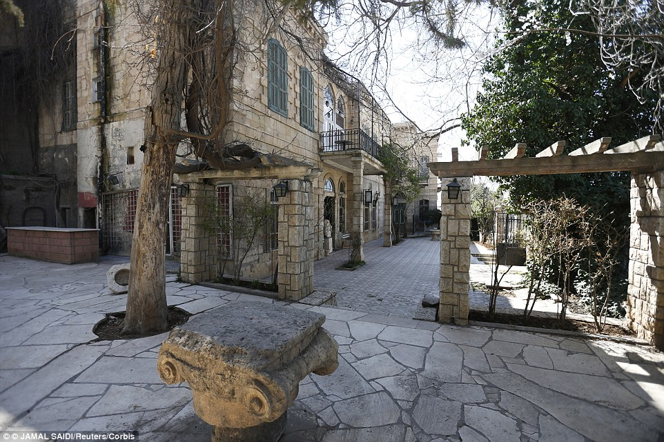 Another exterior view of the hotel, which is located in the Roman city of Baalbek, in the Bekaa valley