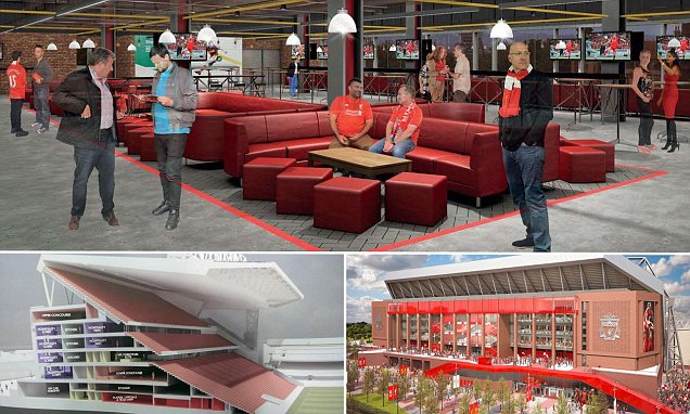 Liverpool reveal images of new Main Stand at Anfield