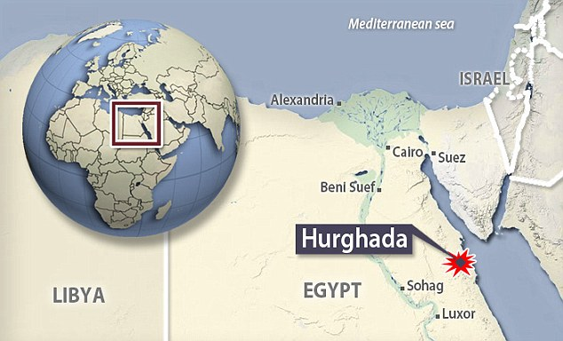 Hurghada is more than 100 kilometres from Sharm el Sheikh, which lies across the red sea at the bottom of the Sinai peninsula
