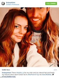 Lindsay Lohan goes back to her natural red locks in new ...