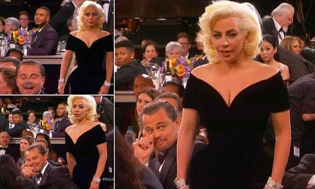 Leonardo DiCaprio's priceless Golden Globes reaction to Lady Gaga barging past