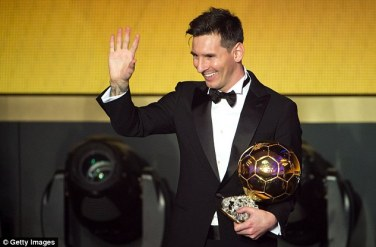 Lionel Messi claimed his fifth Ballon d'Or award, but he continues to carry an unassuming nature