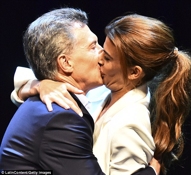 Mauricio Macri admits wife Juliana Awada shes insatiable in bed  Daily Mail Online