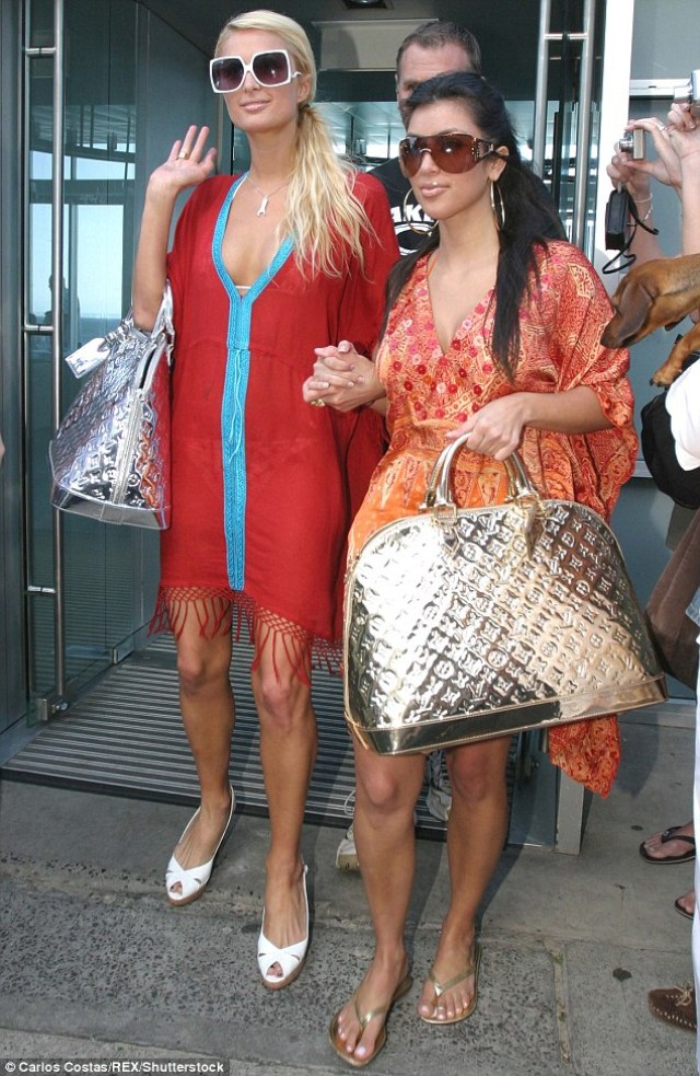 Globe trotting: Around the time of the magazine article, Kim was BFFs with Paris Hilton (pictured in 2006)