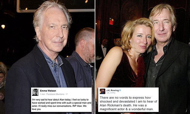 Anthony Bourdain Quotes Wallpaper Alan Rickman Dead Of Cancer Aged 69 After Seeing Emma
