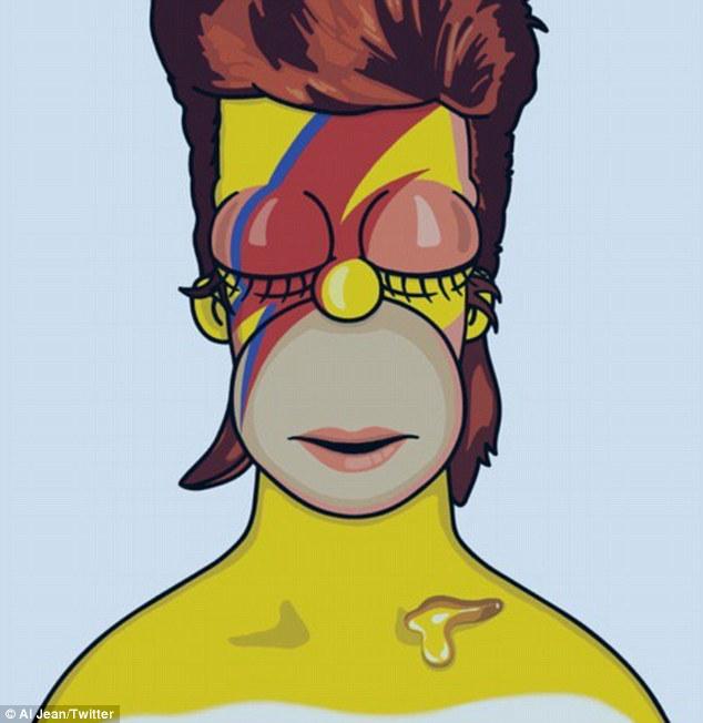 Honrado: Los Simpson productores ejecutivos Al Jean y Matt Selman también registraron tributos a Bowie en Twitter, compartiendo bosquejo maquetas de la estrella