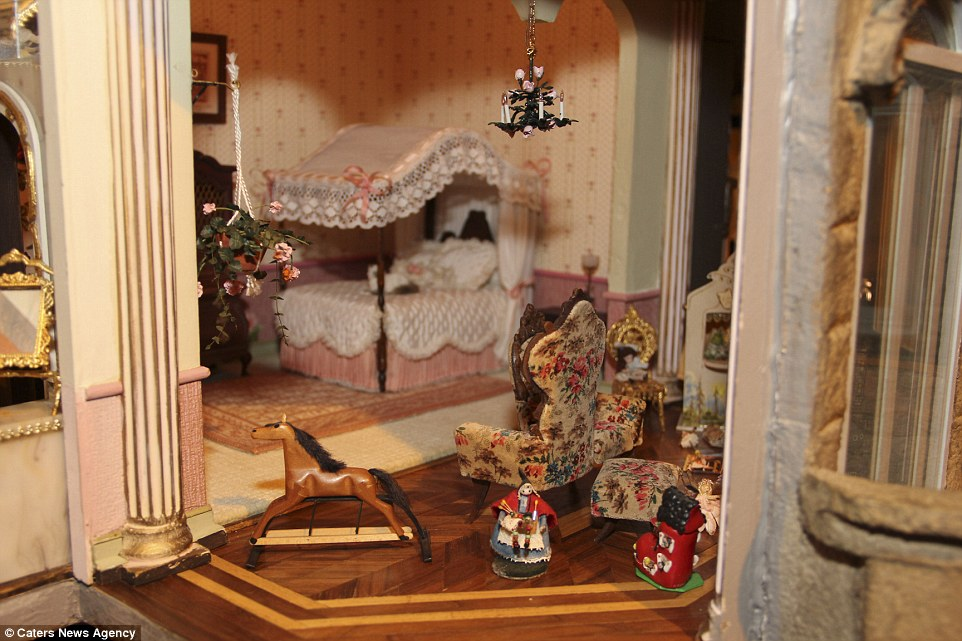 antique rocking chairs for sale chair with umbrella attached walmart world's most expensive dolls' house which includes electricity and a grand piano | daily mail online