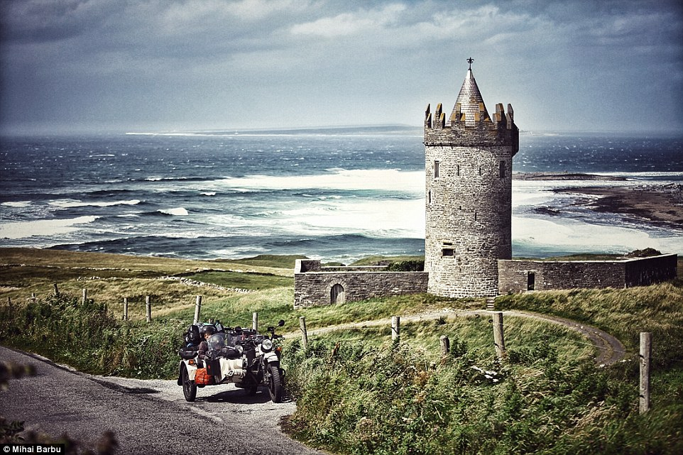As well as spellbinding natural landscapes, there were also opportunities to see some historic wonders. Pictured isDoonagore Castle in Ireland