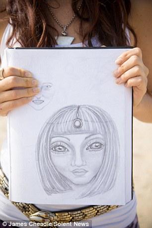 Le madri fanno disegni di ciò che i loro figli ibridi sembrano e mentre hanno caratteristiche umane, più visualizzare le caratteristiche da rettile con grandi occhi neri