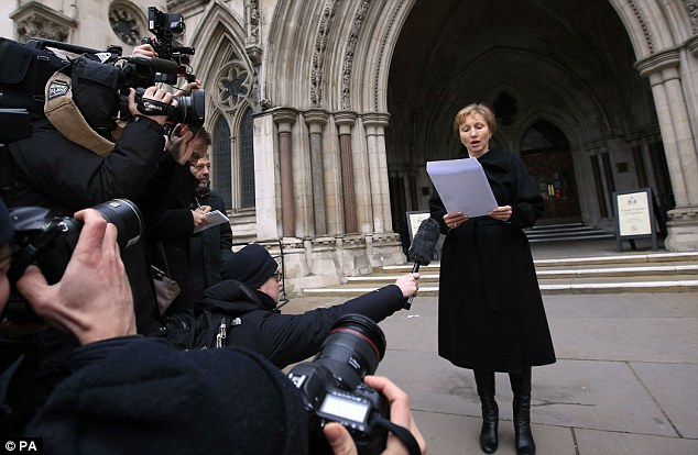 Mrs Litvinenko, speaking on the steps of the High Court in London today, called for the expulsion of all Russian spies from London following the public inquiry