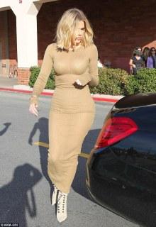 Khloe Kardashian Suffers Wardrobe Malfunction In A Skin Tight Dress