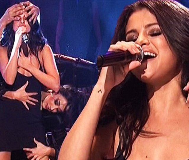 Selena Gomez Gets Sultry In Black Nightie In Steamy Snl Performance Daily Mail Online