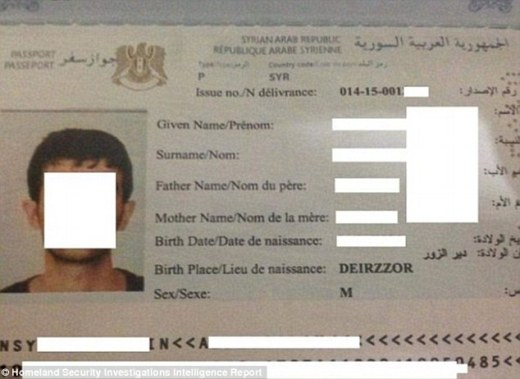 ISIS has formed an entire 'industry' out of making fake passports seized from Iraq, Syria and Libya, according to officials in France (file picture)