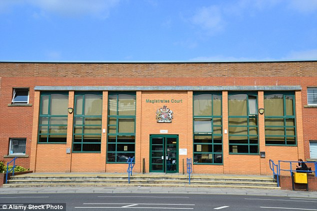 Kosovan refugee Behar Kasemi has been jailed after threatening to cut out his wife's heart because she had become 'too English'. He appeared at Swindon Magistrates' Court (pictured)