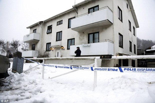 Killing: Officials in Sweden on Tuesday called for greater security at overcrowded asylum centres a day after the fatal stabbing of an employee at a refugee centre for unaccompanied youthsoutside Gothenburg (above)