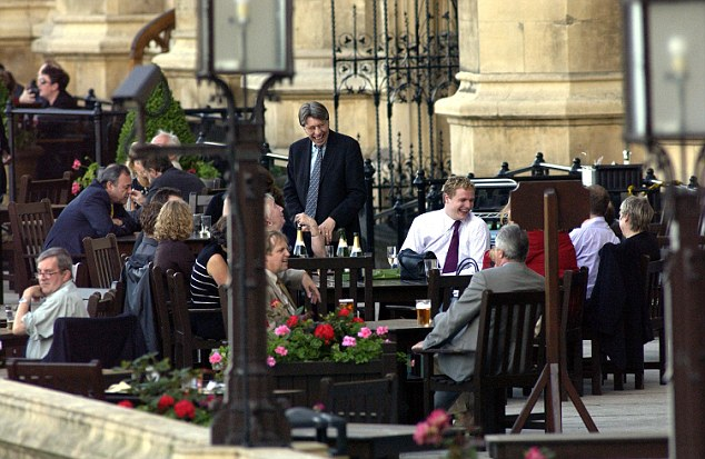 Outraged: Tory MP Andrew Bridgen said the public would be 'absolutely amazed' that parts of Whitehall were being ruled by Sharia law. MPs have many bars to choose from, including the Strangers Bar, pictured