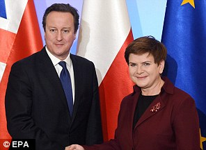 David Cameron has criss crossed Europe, including with the blackbelt Polish PM Beata Szydlo right in December, to get his deal