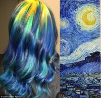 Ursula Goff dyes her hair to look like famous paintings ...