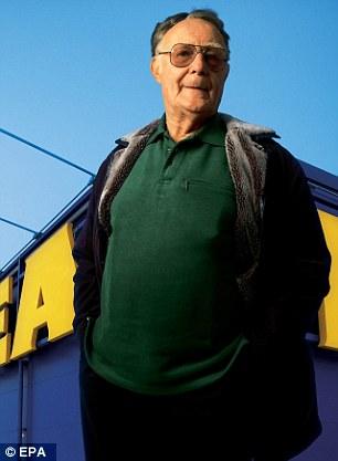 Implicados: Ikea creador Ingvar Kamprad se convirtió en uno de los 8.632 simpatizantes nazis que se unió a la pro-fascista 'Nuevo Movimiento sueca', después de que se ha registrado en 1942 envejecido a sólo 16