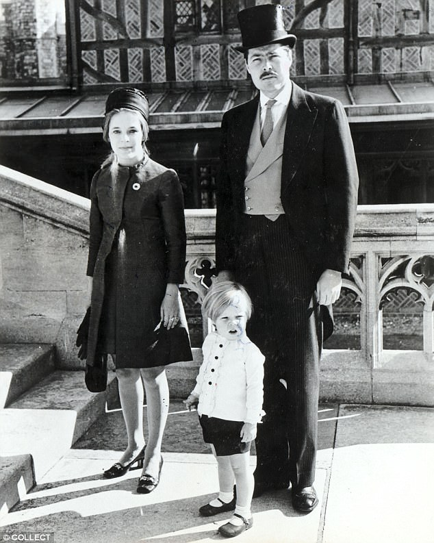 George Bingham, pictured as a young boy with his father, the missing Lord Lucan and his mother