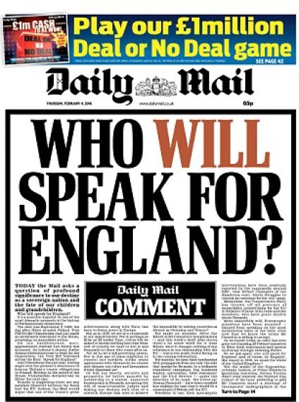 Call for action: The front page of today's Daily Mail