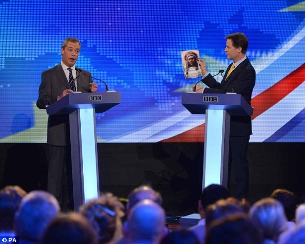 Nick Clegg and Nigel Farage debated the pros and cons of the EU in two TV debates ahead of the 2014 European Parliament elections