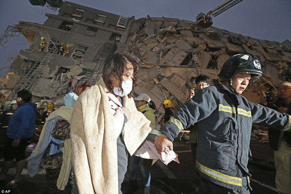The earthquake was followed least five aftershocks of 3.8-magnitude or more, according to Taiwan's Central Weather Burea