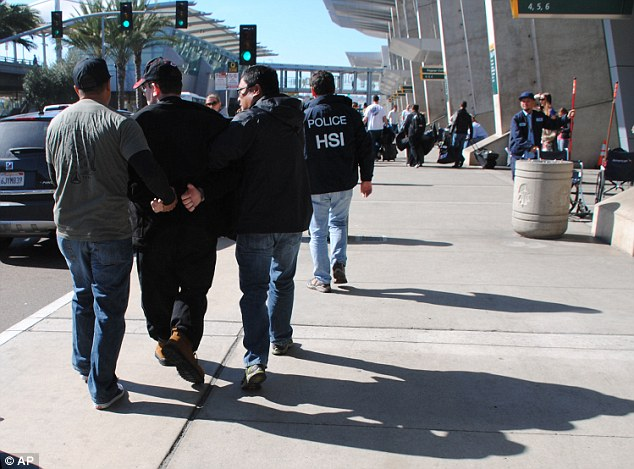 Officers from Homeland Security arrest Wright in San Diego in February