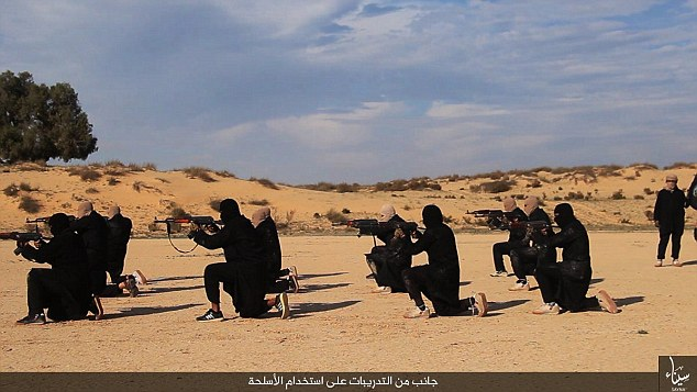 ISIS militants in Egypt released photos of a secret new training camp in the desert of Sinai