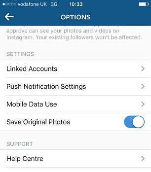 Users will be alerted for all likes, new followers and direct messages for the accounts they have set up on Instagram. These notifications can also be managed in Settings (right)