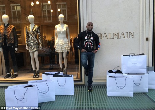 'Did a little shopping': He boasted on Twitter, showing off his many Balmain bags