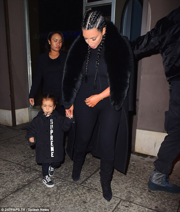 Street cred:North was dressed in a skater style wearing black jeans with a Palace T-shirt, high top Vans, a Thrasher hoodie and, kater, a Supreme coaches jacket