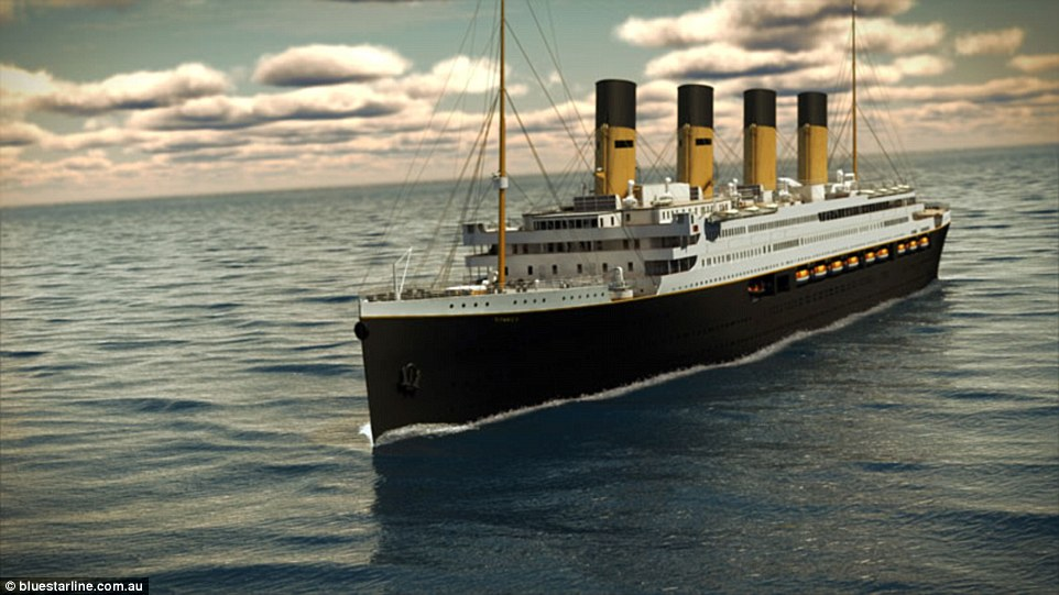 Titanic II (pictured in a rendering) has had its launch pushed back to 2018, with a planned journey from Jiangsu, China, to Dubai