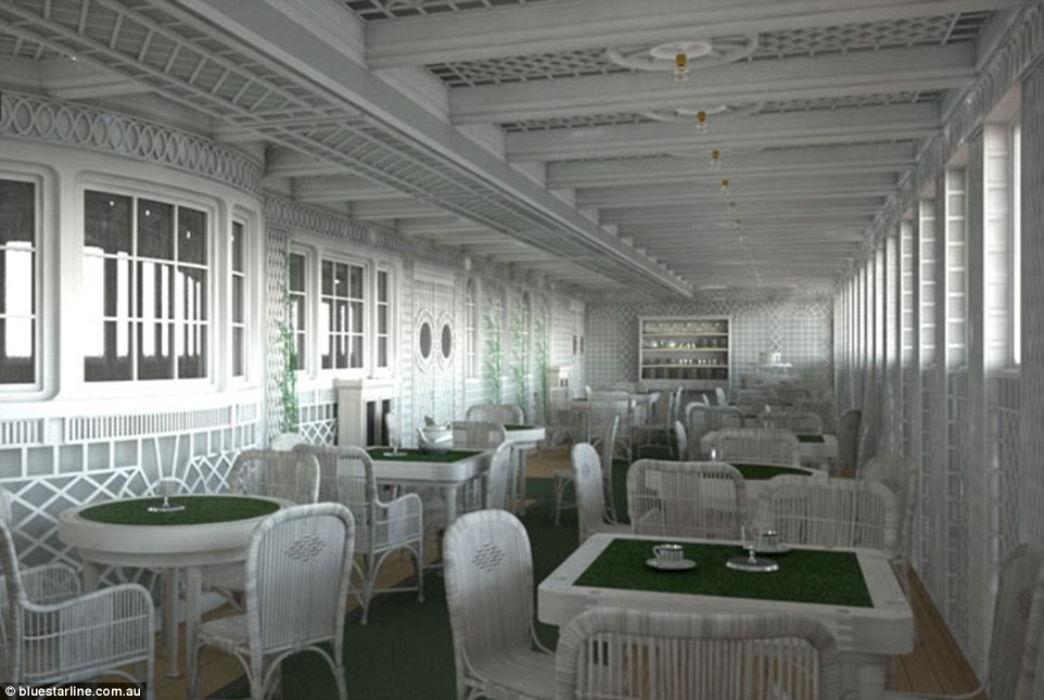 Café Parisien, one of the original Titanic's dining options for wealthier passengers, will be recreated on the replica ship