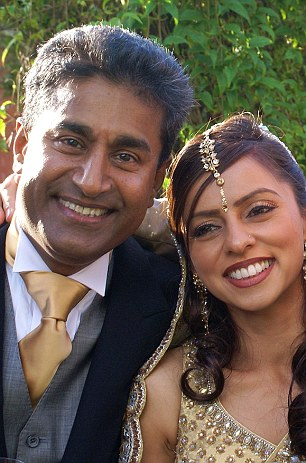 Dr Mattu, pictured on his wedding day in the 90s