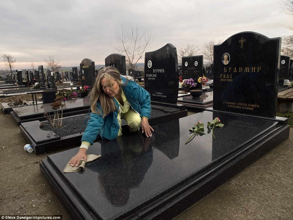 Olja, Serbia: 'My husband's body was returned to me in 2002, four years after his disappearance. At his graveside, I was able to begin the mourning process.'