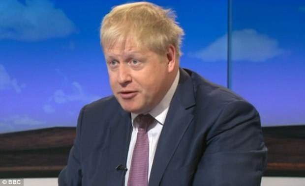 Boris Johnson, pictured on BBC One's Sunday Politics show today, hinted he could join the Out campaign by insisting there was 'no reason to be afraid' of voting for Brexit
