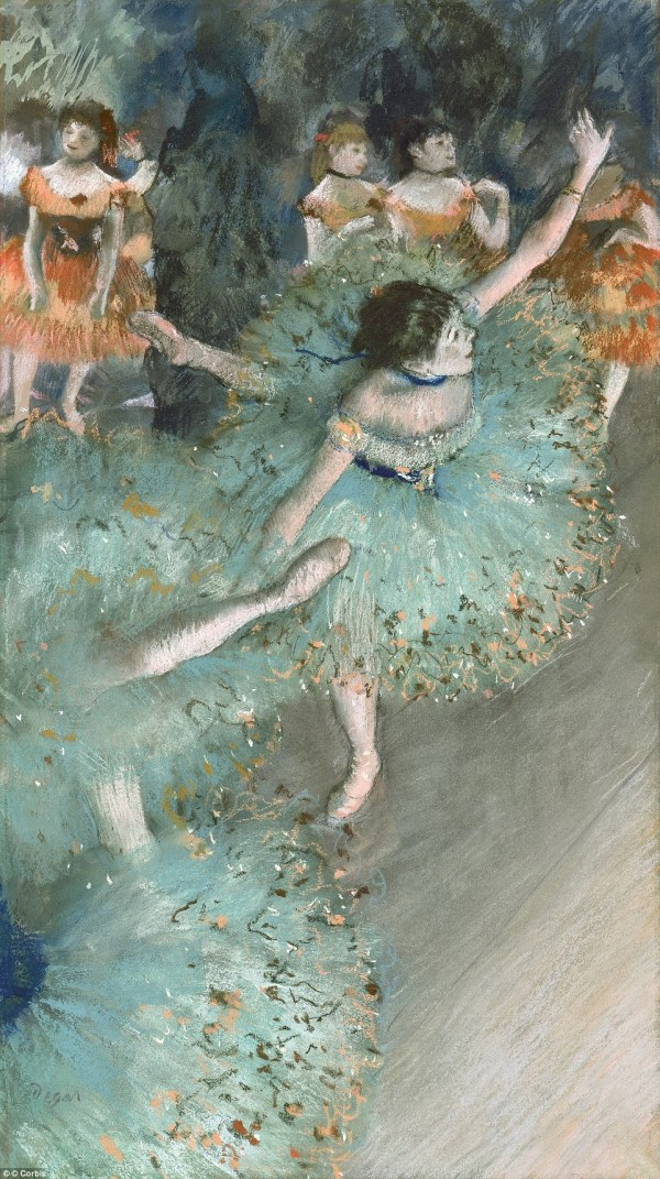 Green Edgar Degas Dancers