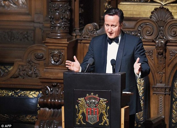 British Prime Minister David Cameron attended the Matthiae-Mahr Dinner in Hamburg, northern Germany, last week, pictured, to make his case for wider EU reform