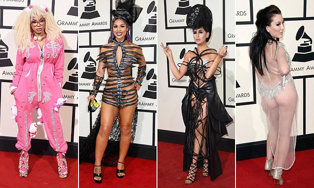 Grammy Awards worst dressed stars hit an all time low on the red carpet