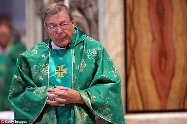 A taskforce is investigating claims that Cardinal Pell (pictured at the Vatican) sexually abused minors by 'both grooming and opportunity'