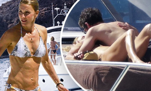 Patrick Dempsey kisses wife on board love boat in St