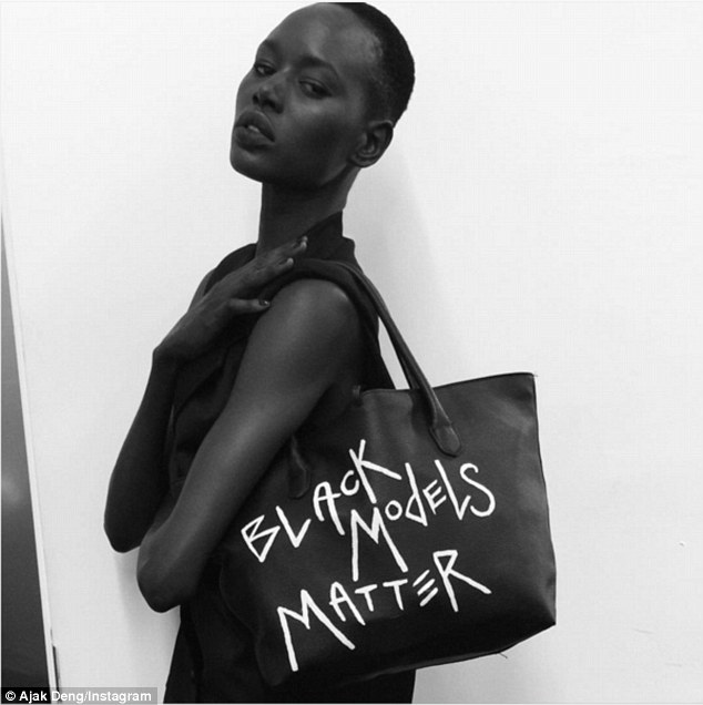 Outspoken: Deng has previously been vocal about racism in the fashion industry and claimed she was 'kicked out' of a Balmain show for being black